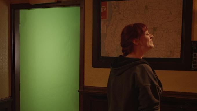 Using green screen to prepare for CGI.