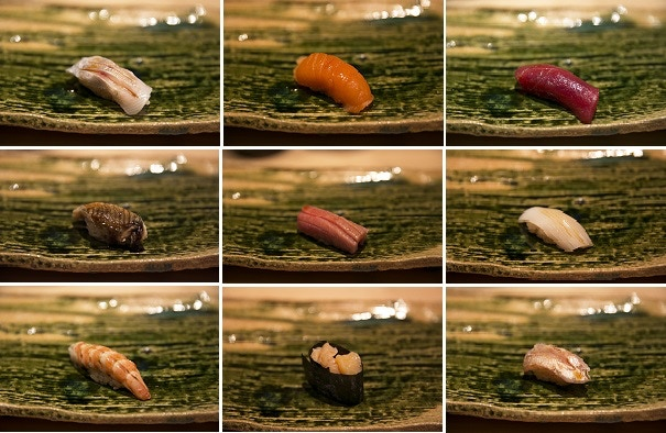 Different types of traditional sushi, Sushi Yoshizumi