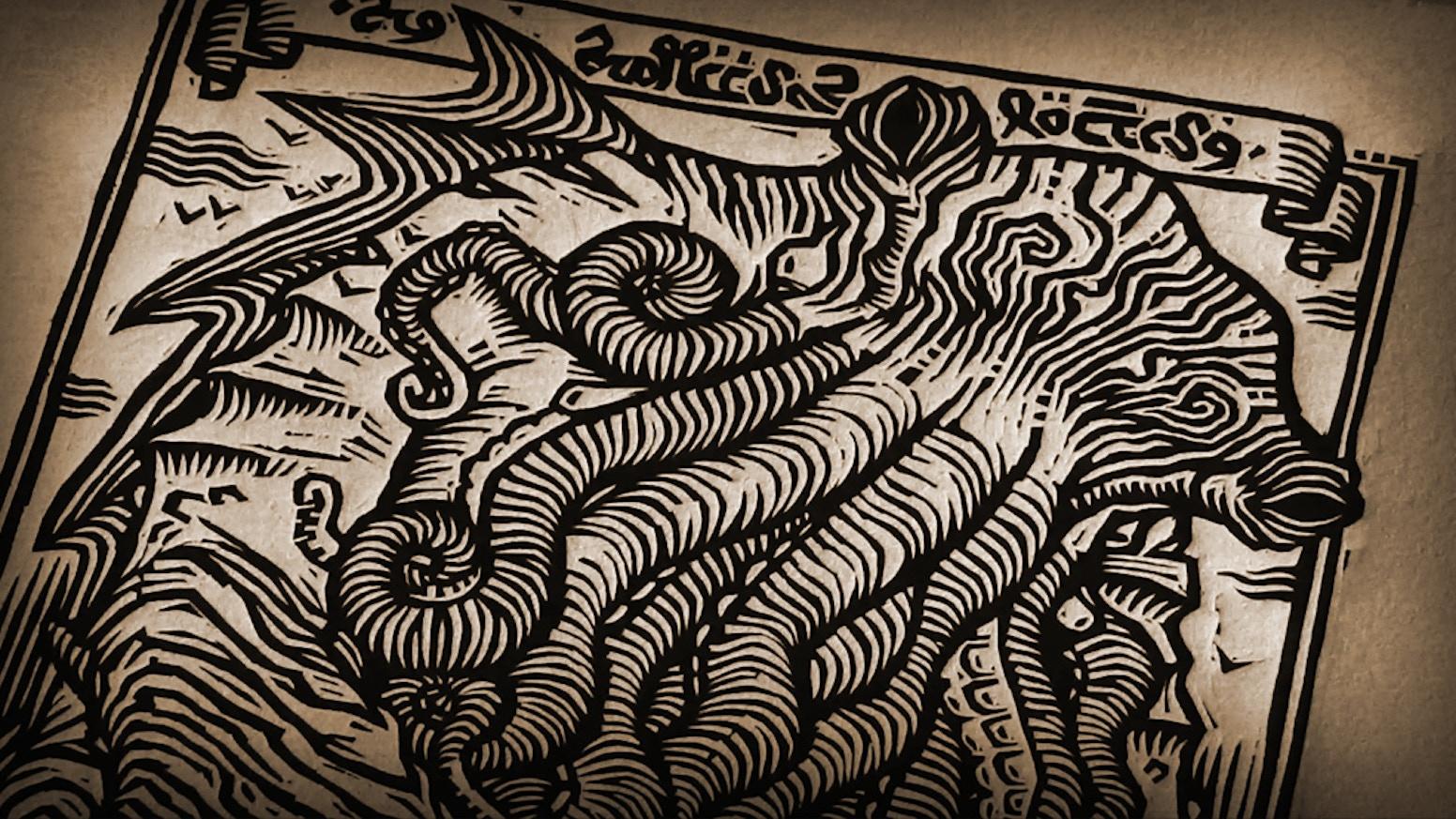Colección de grabados. Las visiones de un Monje Loco. Cthulhu. Medieval. Engraving collection. The visions of a Mad Monk.