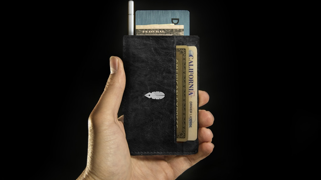 Minimalist Wallet With A Stylish Notepad & Pen  by Inscribe