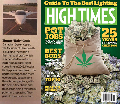 HIGH TIMES Issue #489 World's First Hemp Plane And Hempearth Group