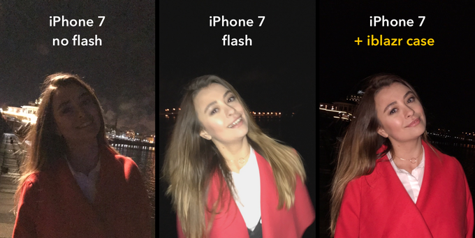 iPhone 7 'no flash' | iPhone 7 flash | iPhone 7 iblazr case
