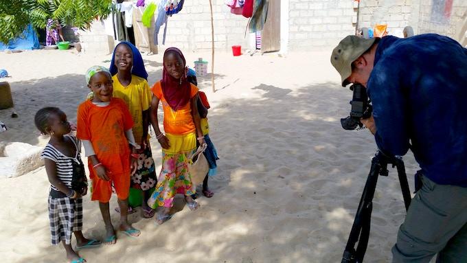 Filming in Gabar, Senegal