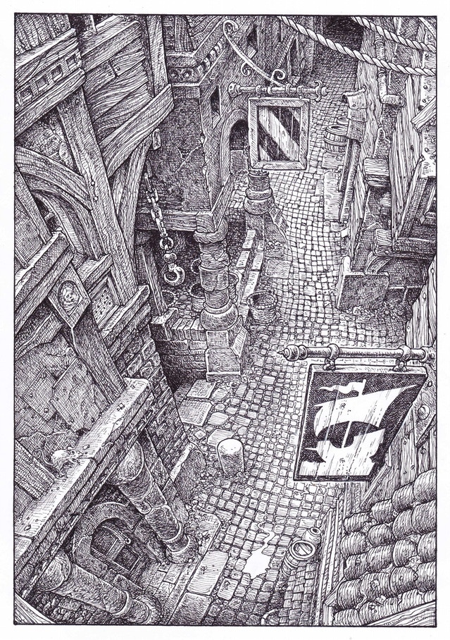 New Collector's Edition interior illustration (section 200)  by Gary Chalk for Megara Entertainment