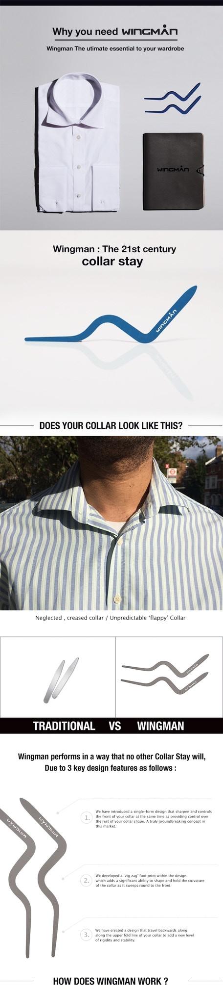 Wingman The 21st Century Collar Stay By Wingman Kickstarter