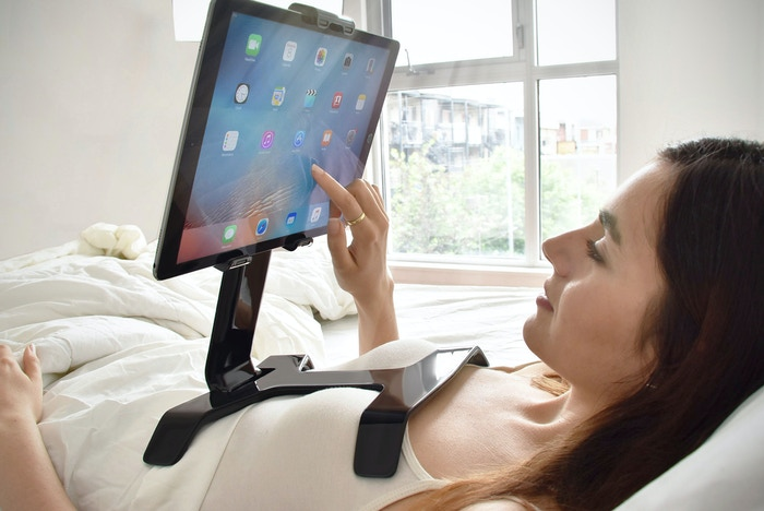TSTAND ipad holder for bed was a great success!!! Buy now @ www.TSTAND.com or check us @ www.surfaceid.com