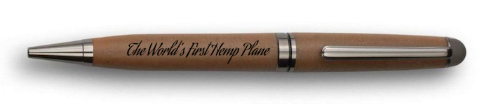 THE WORLD'S FIRST HEMP PLANE SPECIAL EDITION HEMP PEN Made In The USA