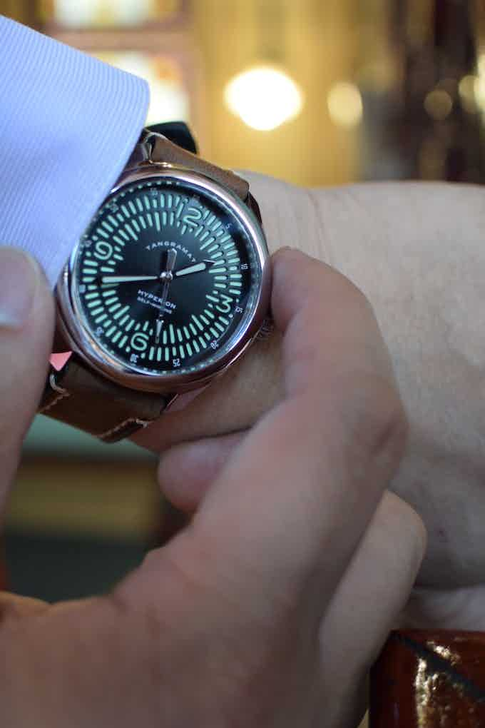 Automatic Explorer on extra thick leather strap