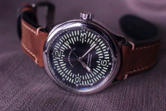 Automatic Explorer on thick leather strap