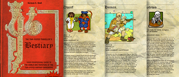 Original Bestiary pages