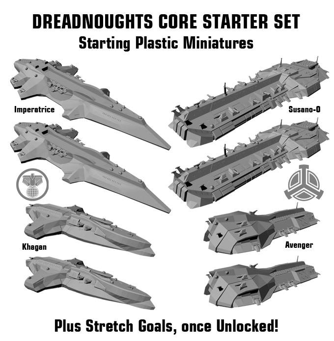 Dreadnoughts Core Starter Set Starting Plastic Miniatures.
