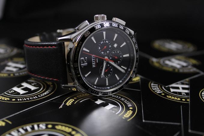 The HEITIS Chronograph Black Dial