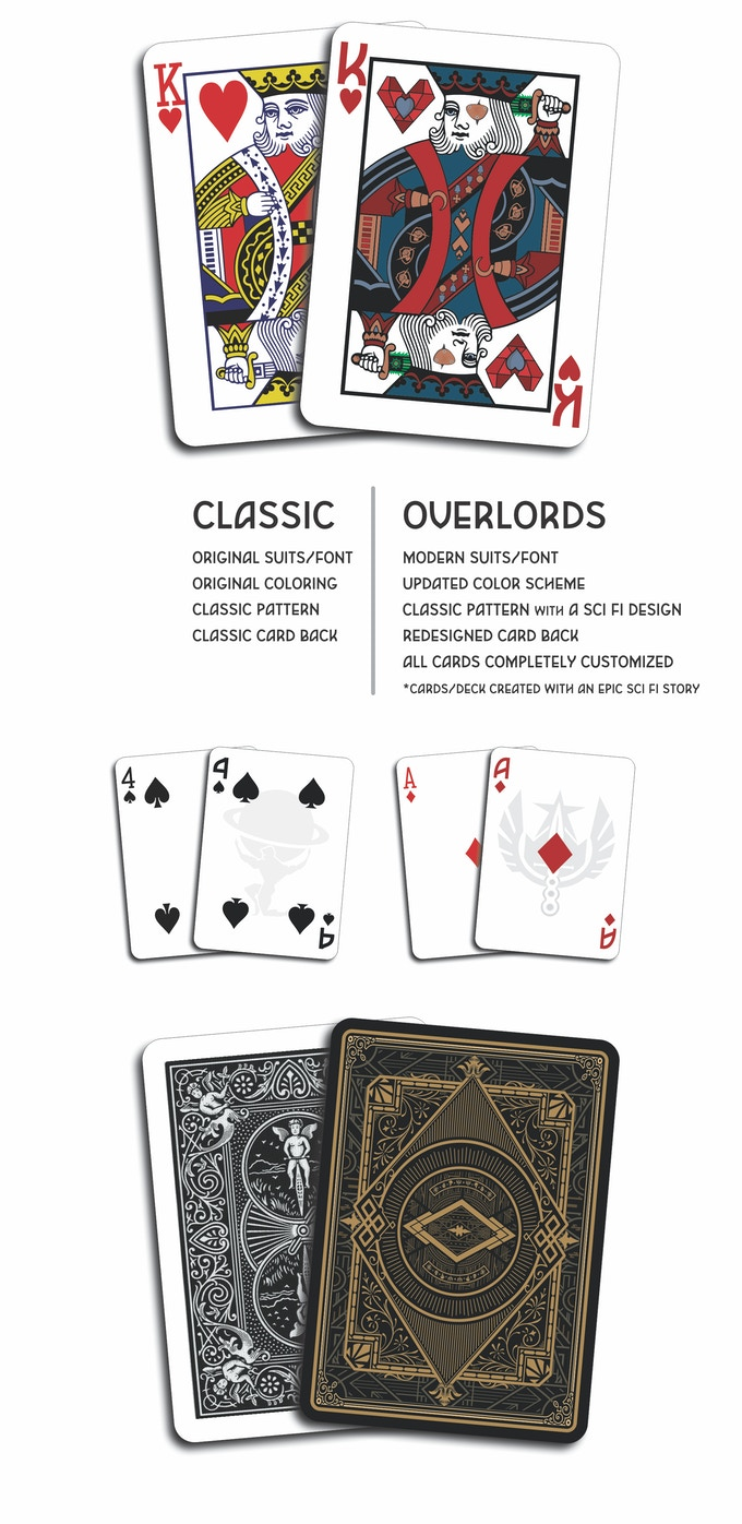Overlords Classic Style Playing Cards With A Sci Fi Twist Ks Playing Card Plethora