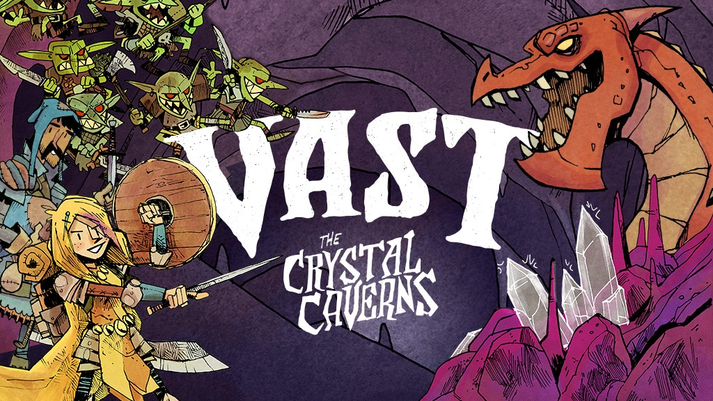 Vast: The Crystal Caverns - Second Printing with Miniatures project video thumbnail