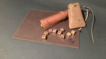 Old World - Leather Gaming Mats for RPG Metal Dice Rolling