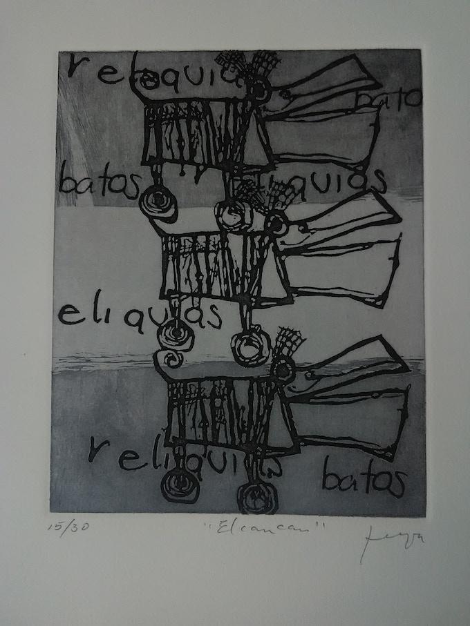 """El Can Can""  Grabado sobre Metal 24.5 x 19 cm"