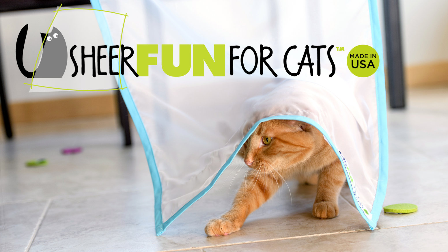 Every great hunt starts with a great hiding spot! Sheer Fun for Cats stimulates your cat's natural instincts to hunt and play.