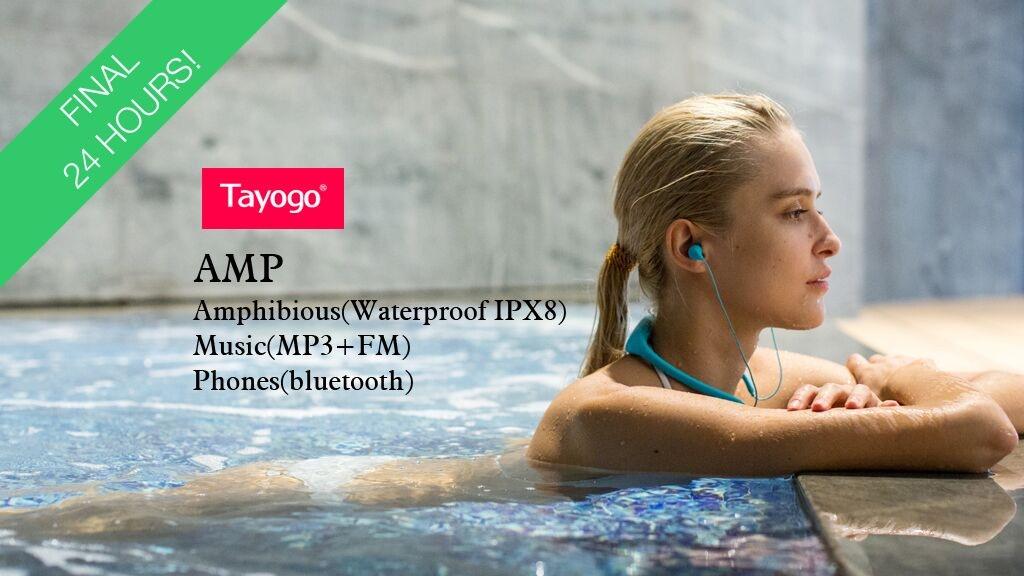 TAYOGO Waterproof Mp3 Player & Bluetooth Headset & FM & App project video thumbnail