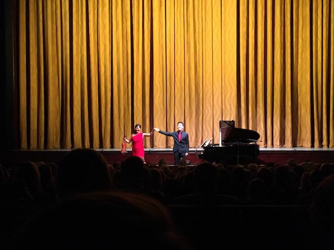 Machiko Ozawa and Ryo Yanagitani performed at Kennedy Center's Eisenhower Theater in 2015