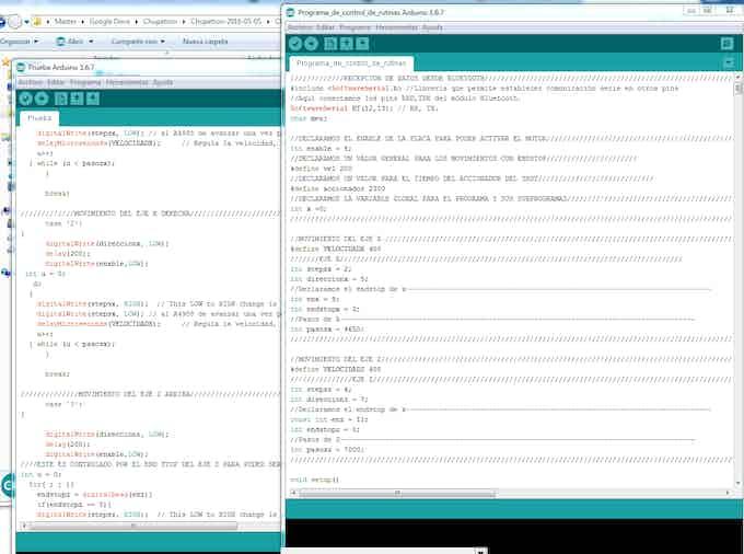 Programacion de Barbot