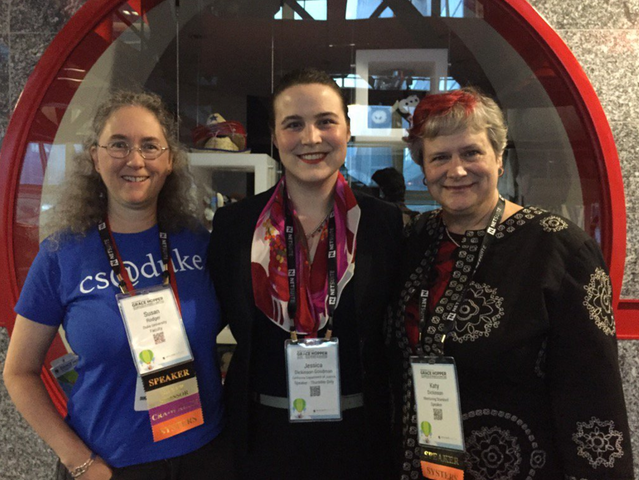 Dr Susan Rodger, Jessica Dickinson Goodman, Katy Dickinson