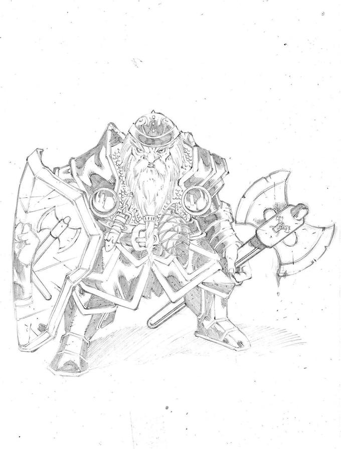 Dwarf warrior priest from Clan Ironfist