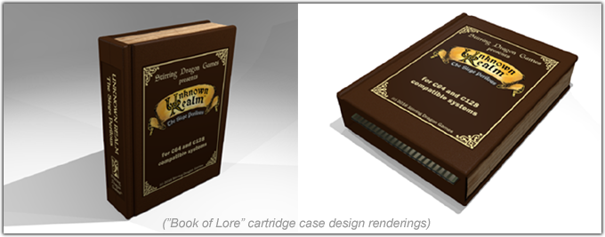 Book of Lore game cartridge for the C64