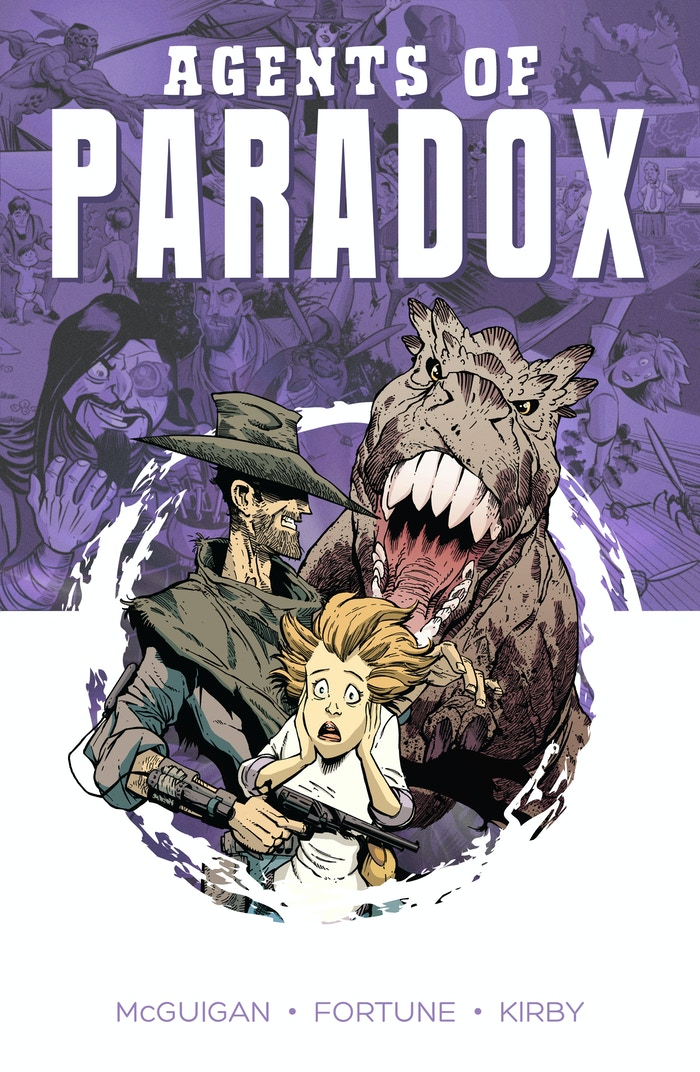 Samuel Dillon and Katie Baker are Agents of Paradox! They travel through time and space, closing wormholes to preserve the timestream. Comic book, 128 pages.