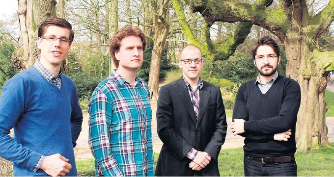 The E-Team, from left to right: Christof, Egbert, Ron and Amir.