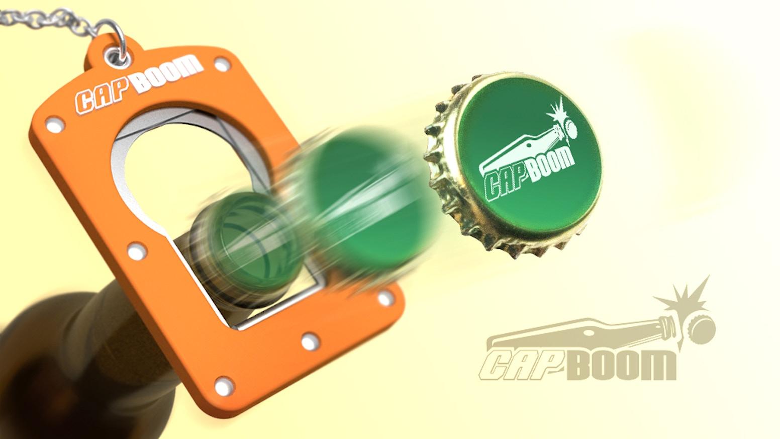 capboom the world 39 s first shooting bottle opener by adam. Black Bedroom Furniture Sets. Home Design Ideas