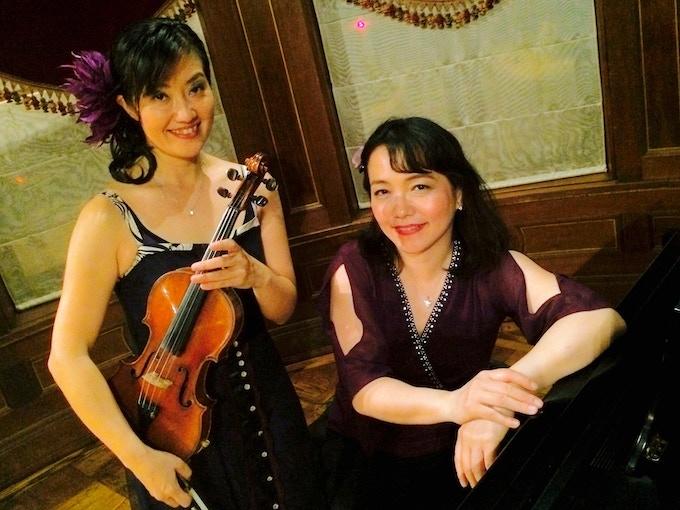 Machiko Ozawa and Ayako Shirasaki after the performance at Turkish Ambassador's Residence DC in May, 2016