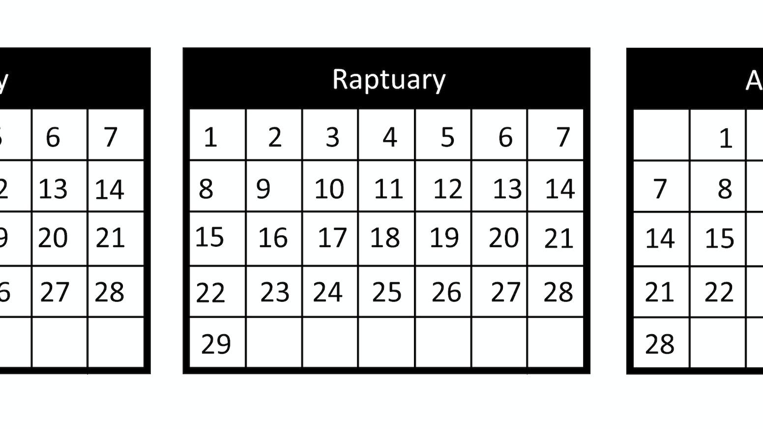 2017 raptuarial calendar by john rap kickstarter