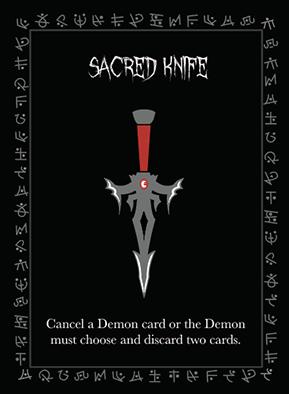 Sacred Knife Exorcist promo card artwork