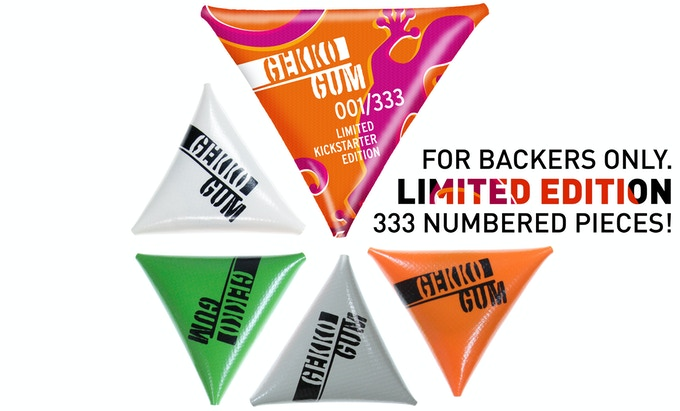 """""""GEKKOGUM LIMITED EDITION"""" - Limited to 333 numbered pieces! You can add the limited edition on top of your reward after the campaign´s end in our backer survey."""