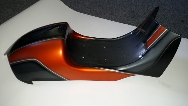 motorcycle seat lacquered