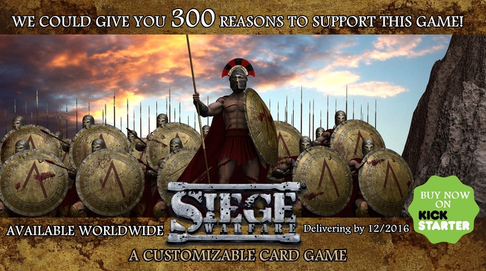 "A Card Game--Kickstarter supporters helped make Siege Warfare a success in Jan 2015.  Now it is time to ""Fight in the Shade."""