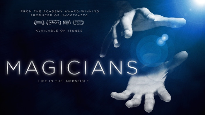 MAGICIANS follows the trials and triumphs of four professional magicians, both on and off stage, as they pursue the mysterious art of making magic. Available on iTunes and many other platforms (Google, Amazon, On-Demand)