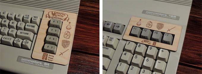 Black edition wooden keyboard overlays