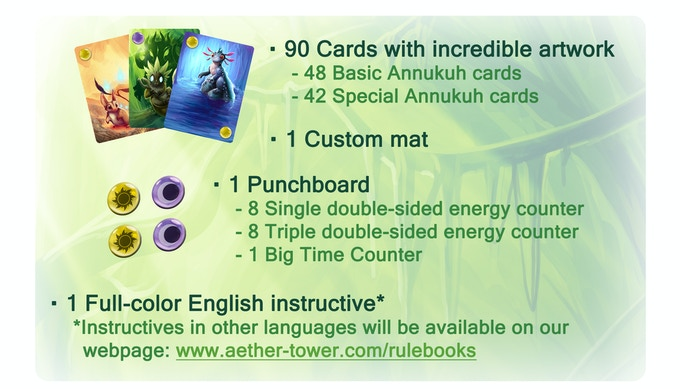 Some of this components were unlocked by Stretch Goals thanks to you!