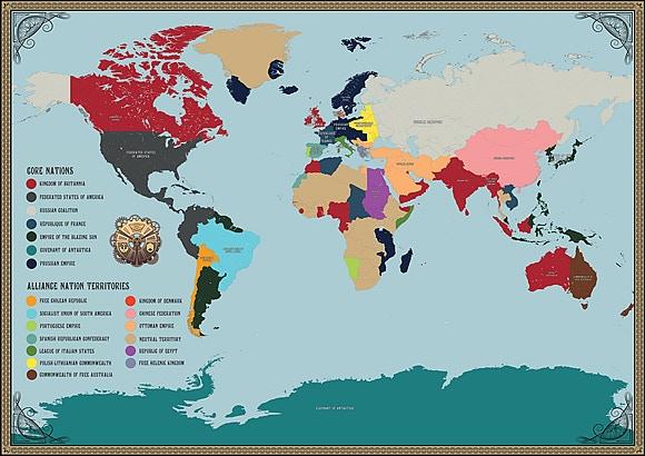 Dystopian World Expansion By Spartan Games Kickstarter - Dystopian us map