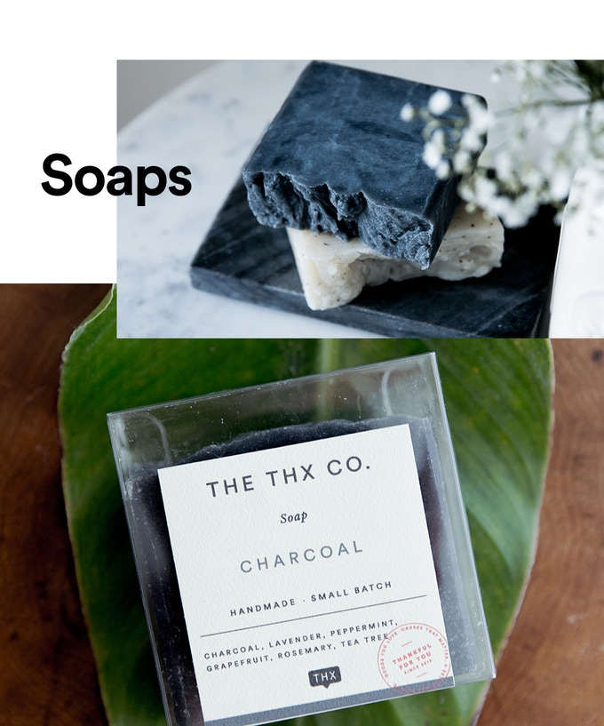 Activated Charcoal and Eucalyptus Mint Pure Essential Oil Soaps
