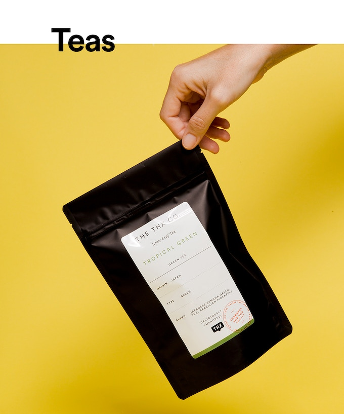 Sustainably sourced loose leaf teas (Available in Cinnamon Black Tea, Hibiscus Herbal Fruit, and Pinapple Green Tea)