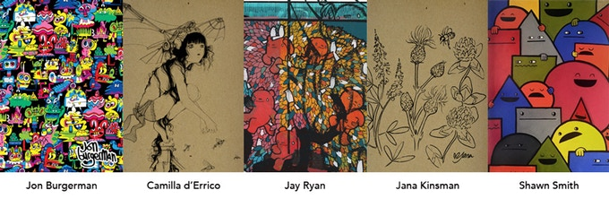 Pretty much final versions of the covers each artist created for the Resketch Journal project