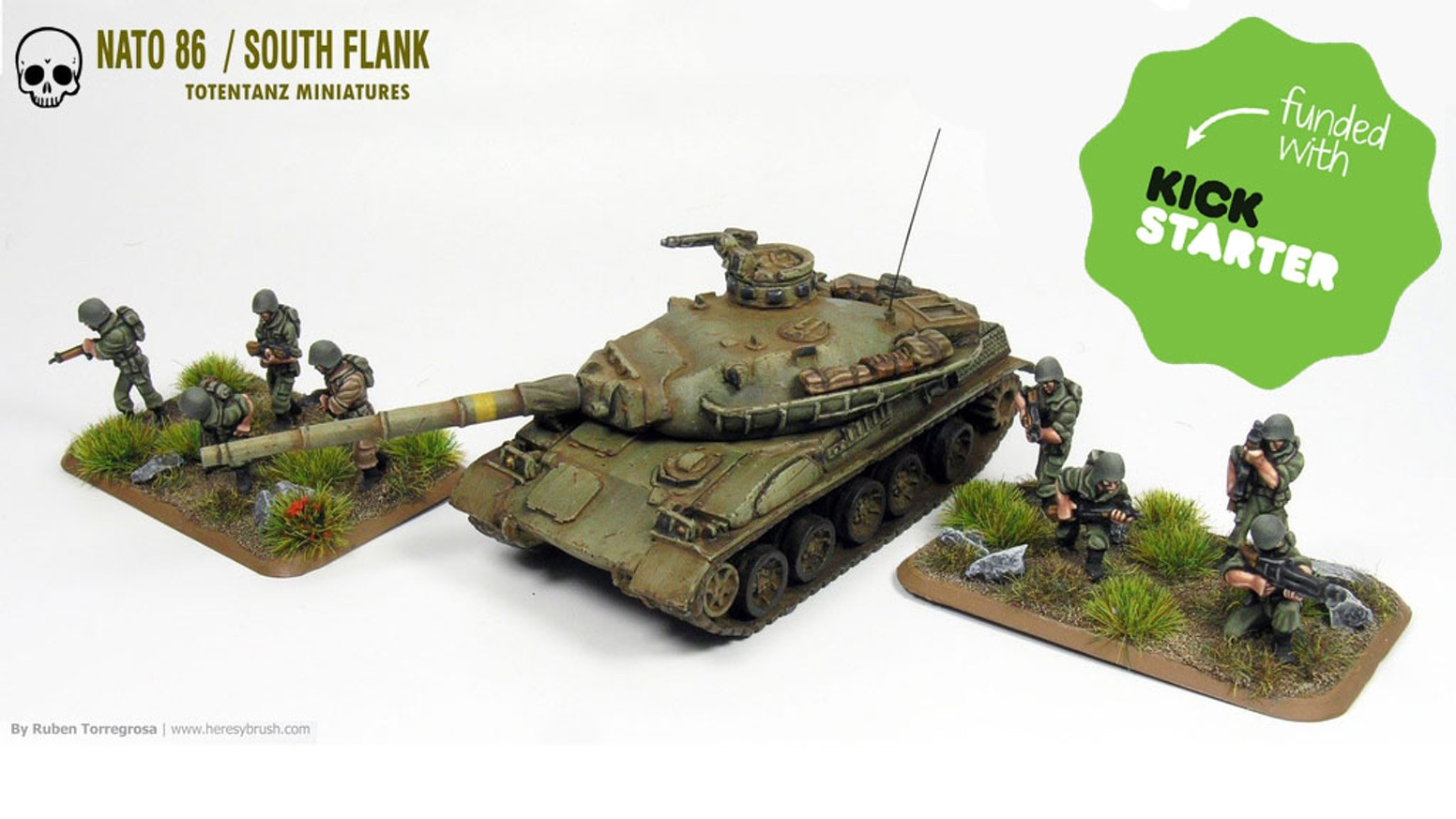 NATO 86 is a new range of 15mm miniatures for a Cold War gone Hot scenario involving the Spanish, French and Italian  Armies of the 80s