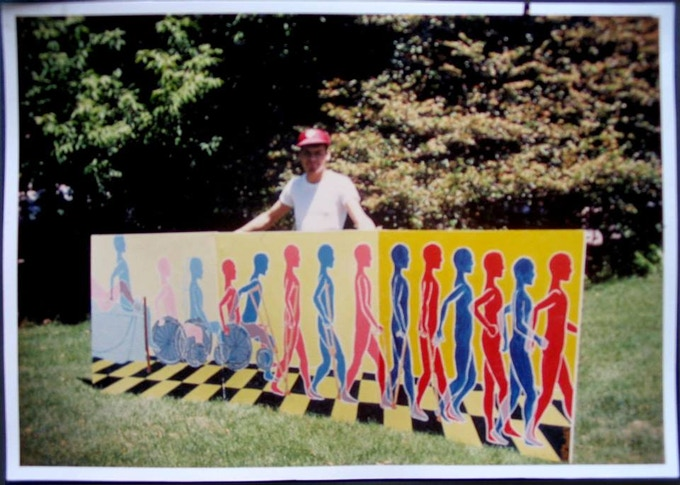 "I designed and painted the seminal mural ""Recovery 1"" at age 20 in 1979 and donated it to the Toronto Hospital the saved my life."