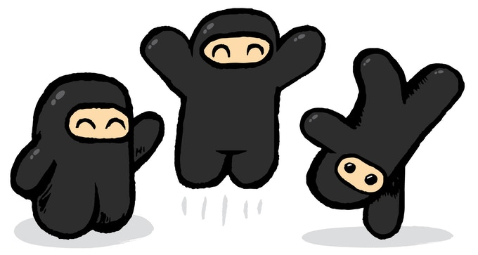Just a handful of super adorable ninjas. Sup?