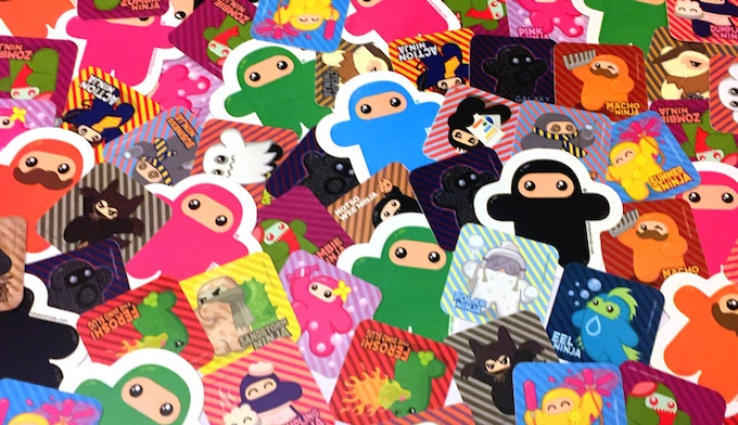 Lots o' Ninjatown stickers! And many more to come...
