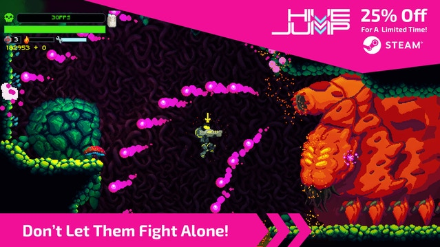 Let your friends know Hive Jump is part of the Steam Autumn Sale!