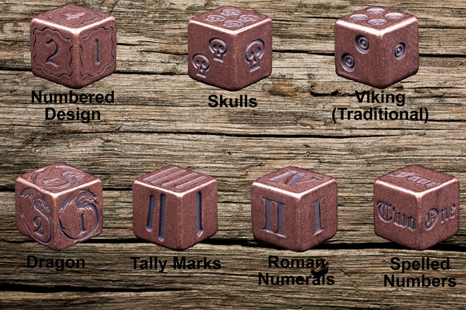 Choose any of these Solid Copper Dice to add on!