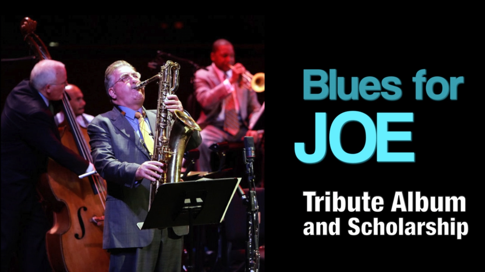 "Thank you all!  We raised $22,675 for ""Blues for Joe"" CD & Joe Temperley Scholarship at Juilliard for sax students!"